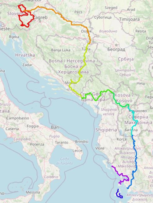 Les Balkans à biclou